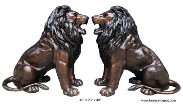 Bronze Lion Statues