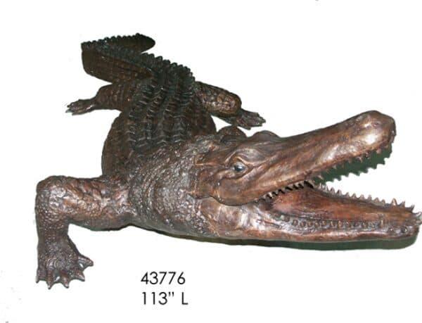 Bronze Alligator Crocodile Fountains
