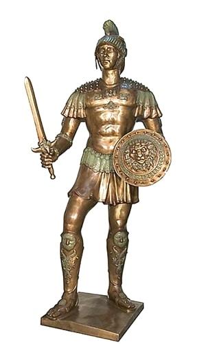 Bronze Spartan Warrior Statue - AF 52749
