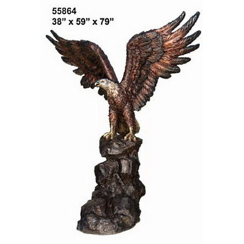 Majestic Bird Prey Bronze Eagle Statue - AF 55864