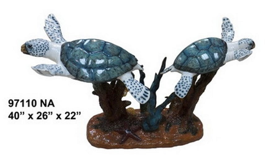 Turtle Bronze Table - AF 97110NE