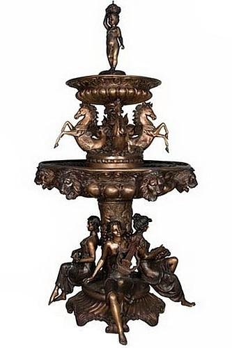 Bronze Horse & Ladies Fountains