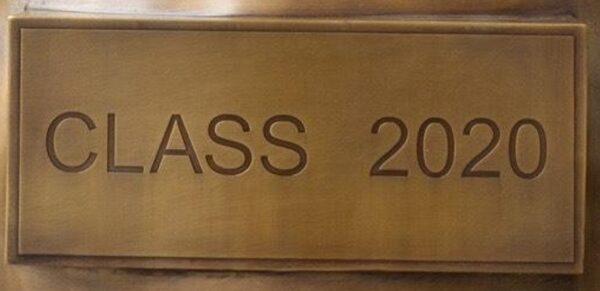 Bronze Class 2020 Plaque