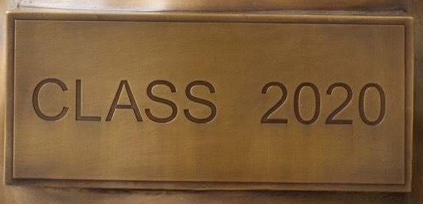 Bronze Class 2020 Plaque - DD Bronze Plaque