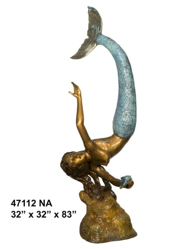 Bronze Mermaid Fountain Statue - AF 47112NA