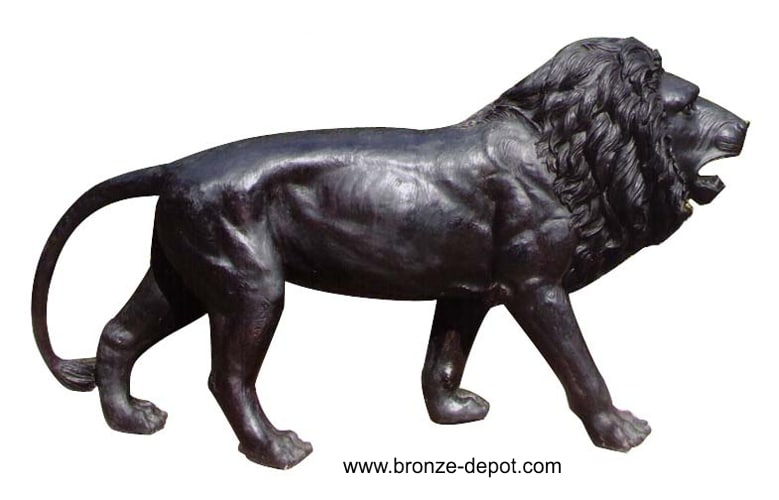 Bronze Lion on Hunt Statue - DD A-265