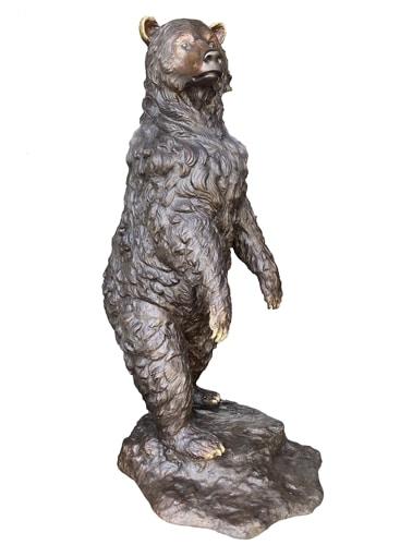 Big Bronze Standing Bear Statue - AF 55685