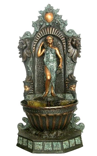Bronze Lady Urn Wall Fountain - AF 76408