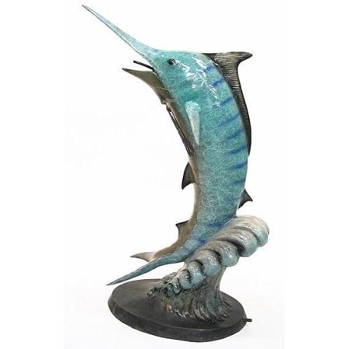 Bronze Marlin Jumping Fountain - DK 2223