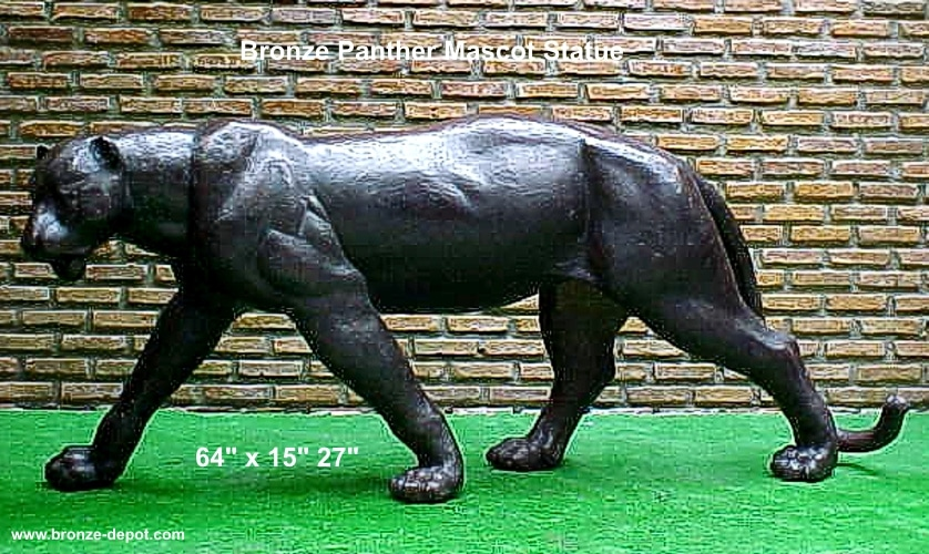 Bronze Stalking Panther Mascot Statue - PA 1052A