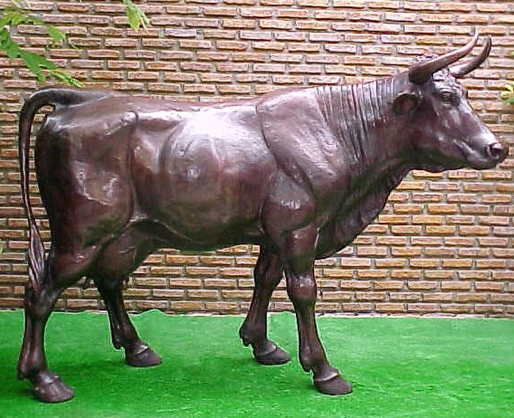 Bronze Cow Statue - PA 1064C