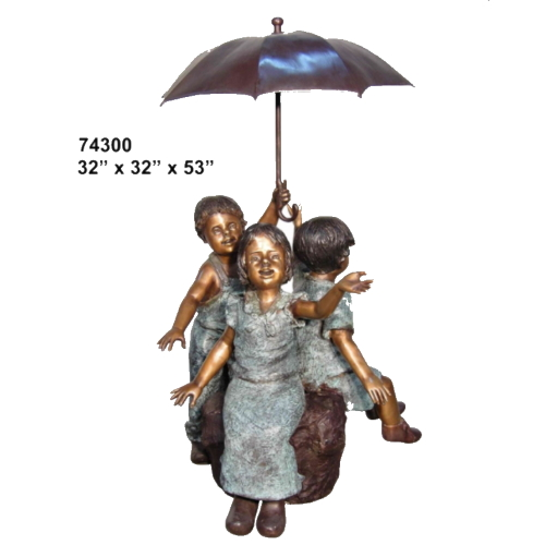 Kids Umbrella Bronze Fountain - AF 74300