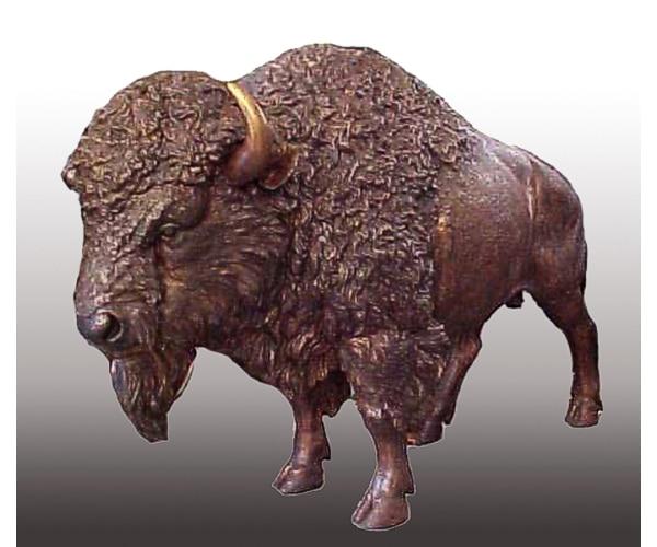 Bronze Life-Sized Bison Bull Mascot Statue - PA 1135