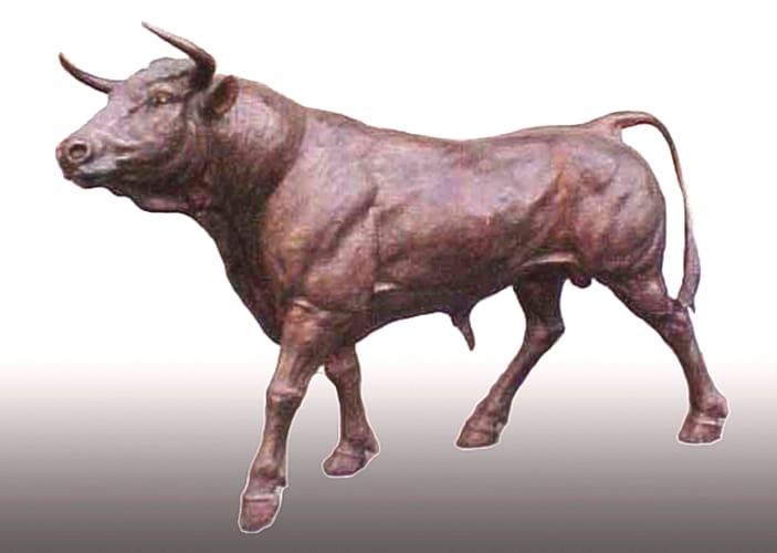 Life-Sized Bronze Bull Mascot Statue - PA 1160