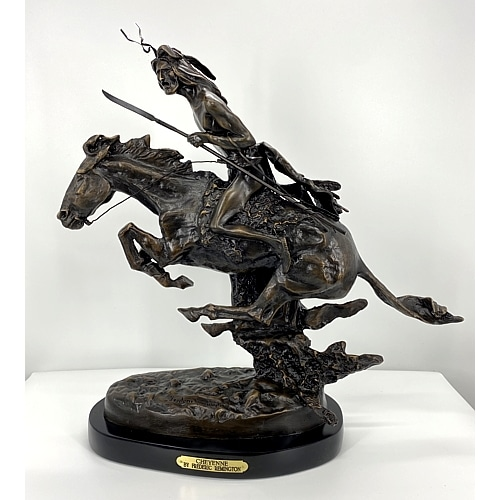 Bronze Remington Cheyenne Statue (Prices Here) - ASB 004