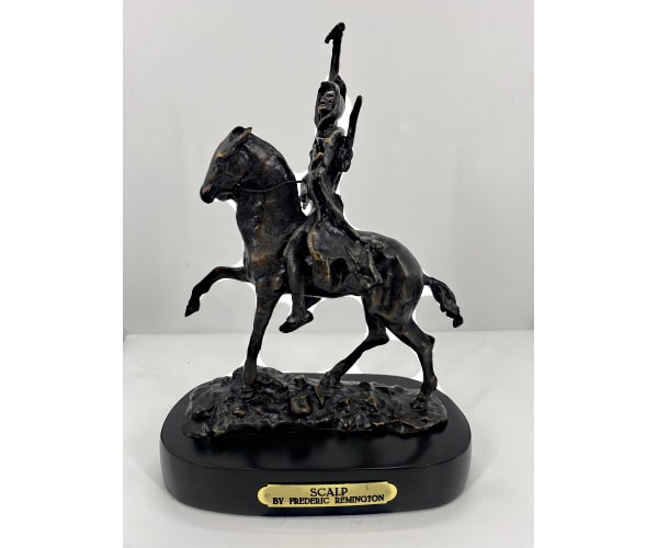 Bronze Remington Scalp Statue (Prices Here) - ASB 010