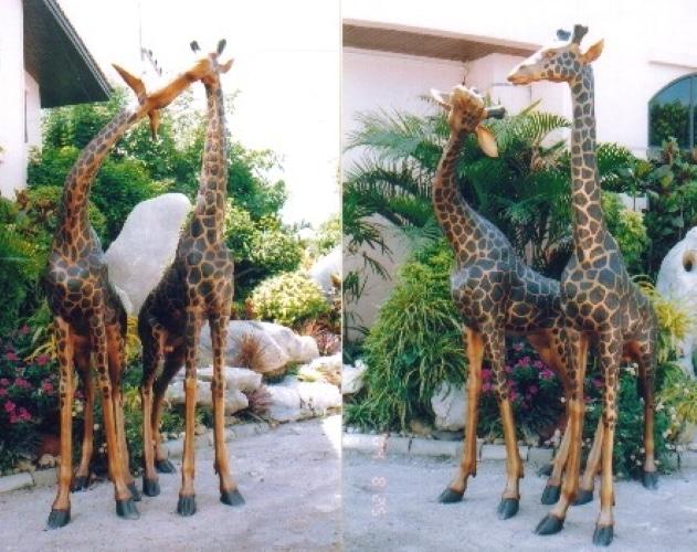 Bronze Male & Female Giraffe Statues - AS 043