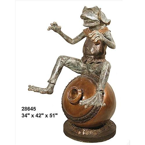 Bronze Frog Fountain - AF 28645