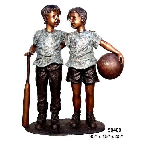 Bronze Gay Friends Statue - AF 50400