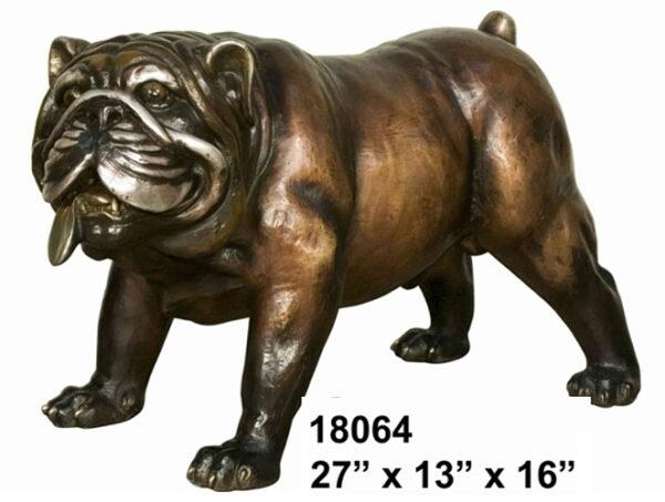 Bronze Bulldog Mascot Statue