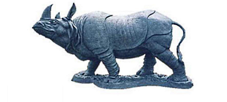 Bronze Rhinoceros Statue - DK-2039