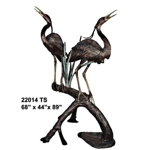 Bronze Heron Fountain - AF 22014