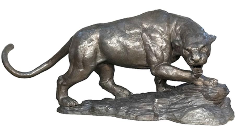 Bronze Stalking Panther Statue - AF 22016