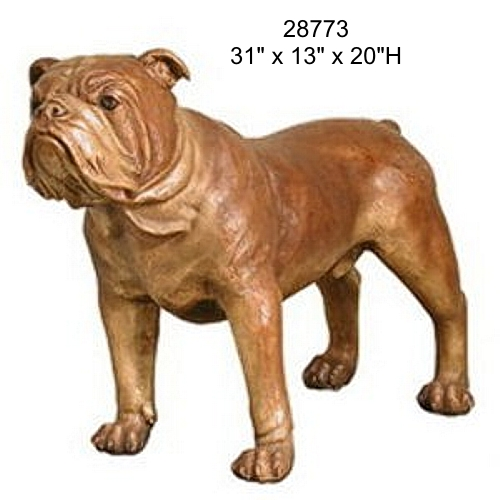 Bronze Bulldog Mascot Statue - AF 28773