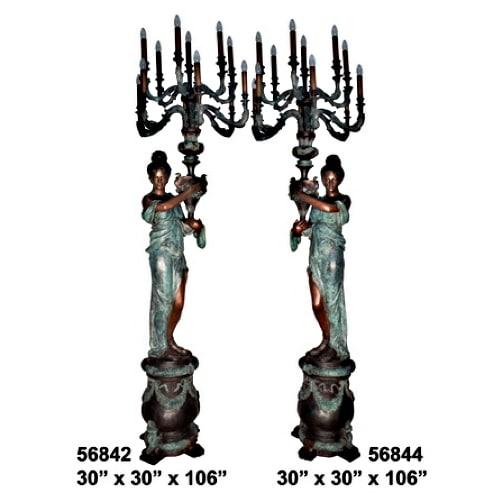 Bronze Decorative Torchiere Light - AF 56842-44