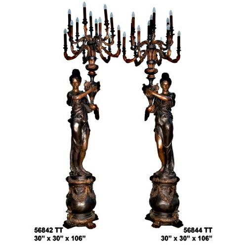 Bronze Decorative Torchiere Light - AF 56842-44 TT