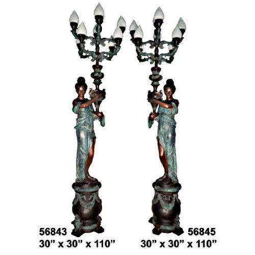 Bronze Decorative Torchiere Light - AF 56843-45