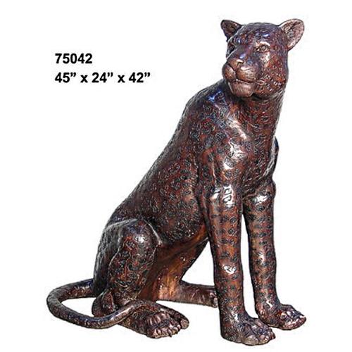 Bronze Cheetah Statue - AF 75042