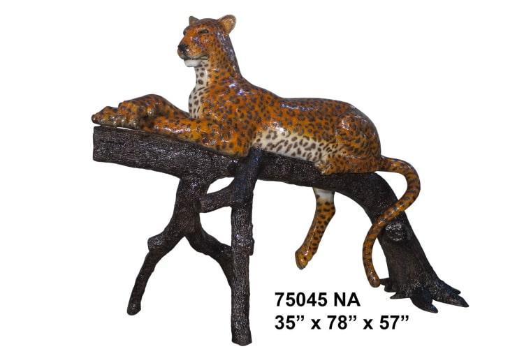 Bronze Leopard Statue - AF 75045NA