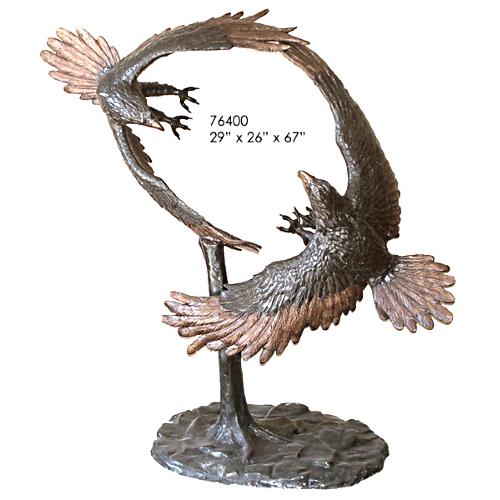 Bronze Dueling Eagles Statue - AF 76400