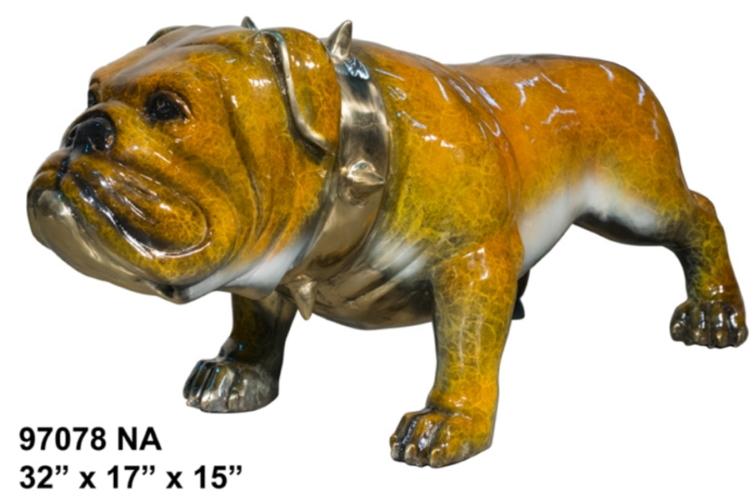 Bronze Bulldog Mascot Statue - AF 97078NA
