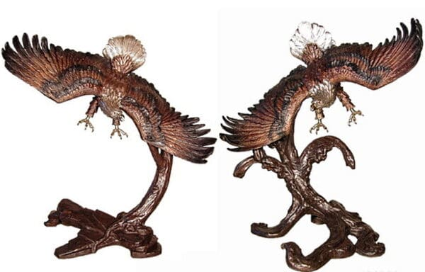 Bronze Eagle in Flight Statue