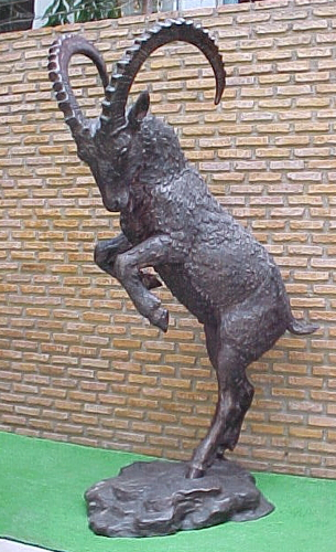 Bronze Life-Size Ram Mascot Statue - PA A-1094