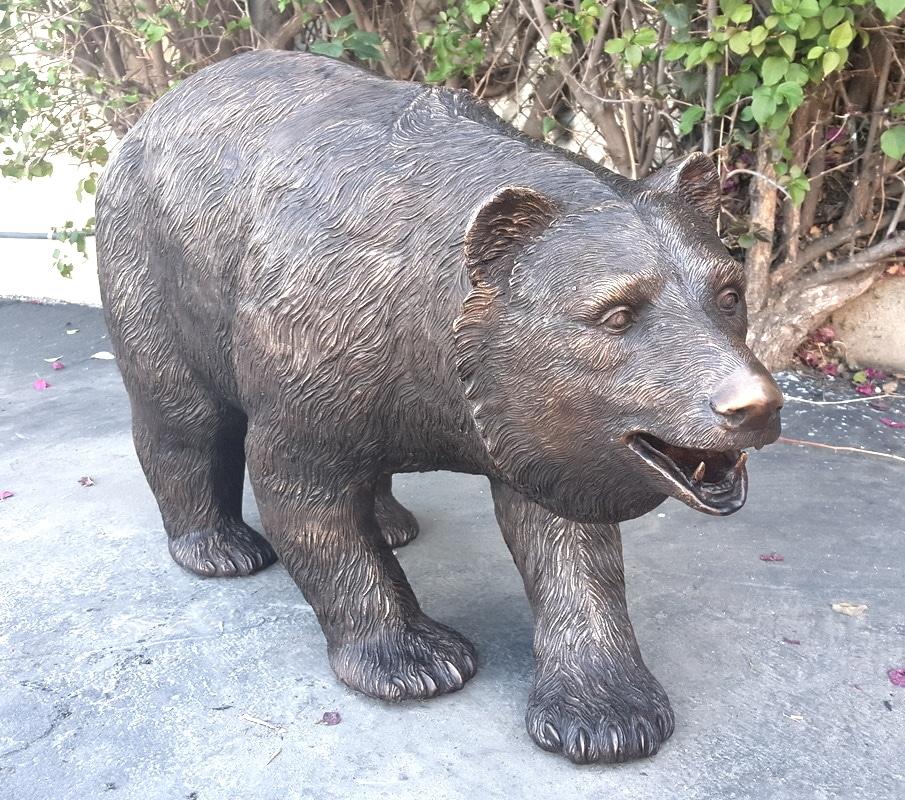 Bronze Bear Statue - MP B-821
