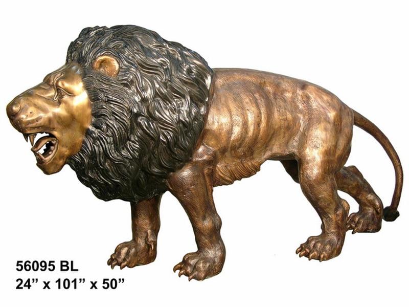 Bronze Savanna Lion Statue (L & R) - AF 56095 TT