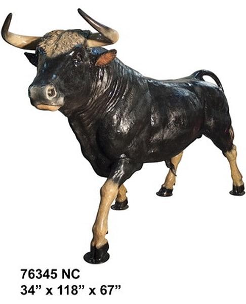 Life-Size Bronze Bull Mascot Statue - AF 76345 TT