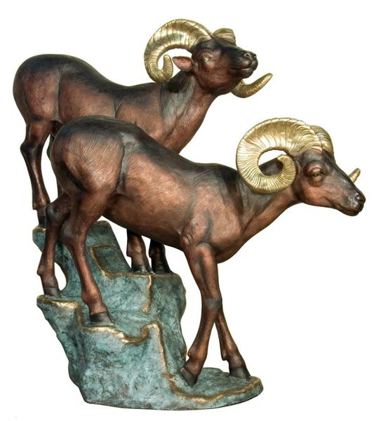 Bronze Ram Statue - AF 76421
