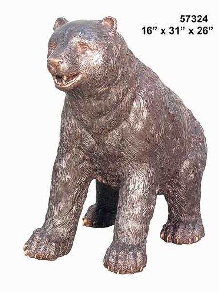 Bear Cub Bronze Statue - AF 57324