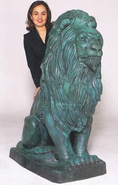 Bronze Lion Statue - ASB 670