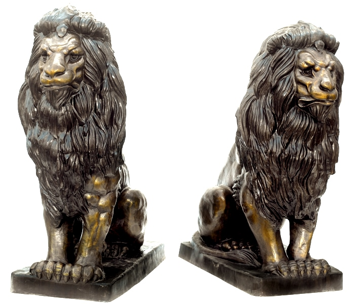 Bronze Lion Statue - ASB 670 B
