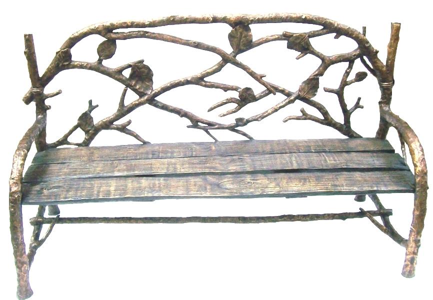 Bronze Leaf Bench